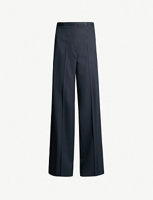 JIL SANDER Fabio straight high-rise wool trousers