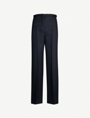 JIL SANDER Fabio high-rise wool wide-leg trousers