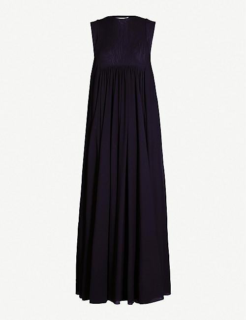 43bfd3d660f3 JIL SANDER Gathered-detail mesh dress