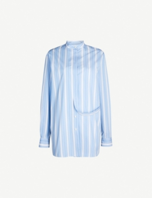 JIL SANDER Giusy striped cotton shirt