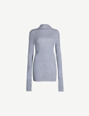 JIL SANDER Checked woven top