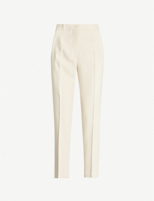 ETRO High-rise straight crepe trousers