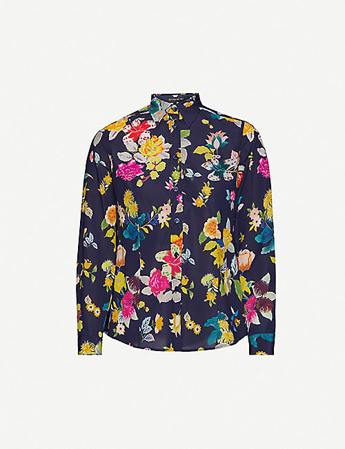 ETRO Printed stretch-silk shirt