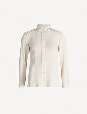 ETRO Long-sleeved silk-crepe shirt