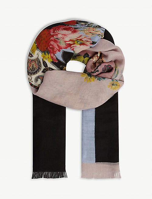 ETRO Cashmere floral scarf
