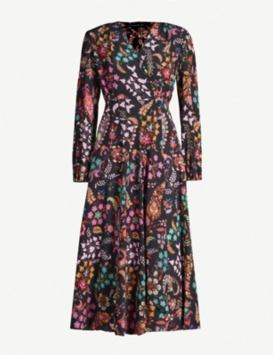 ETRO Paisley-print silk-crepe midi dress