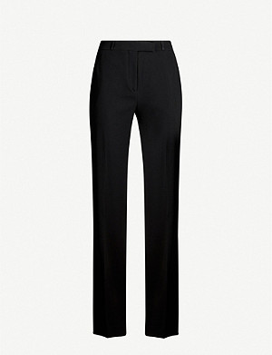 ETRO Fuji high-rise silk-crepe straight-leg trousers