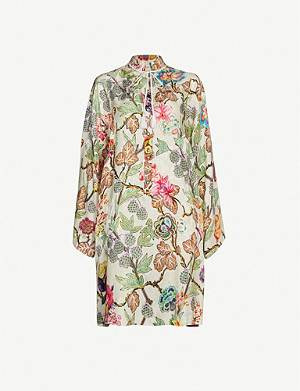 ETRO Surrey floral-print silk-crepe dress