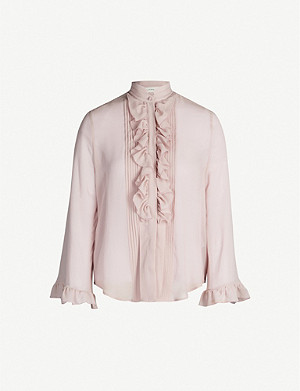 ETRO Norfolk ruffled silk-crepe shirt