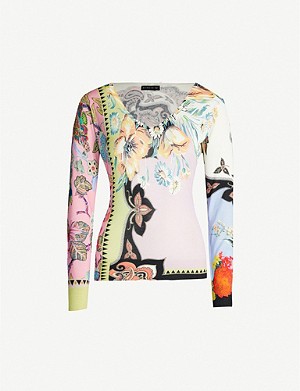 ETRO Milano graphic-print silk and cashmere-blend jumper