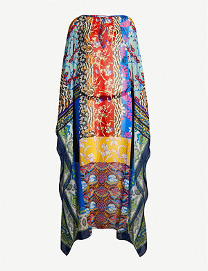 ETRO Patchwork-print silk-crepe maxi dress