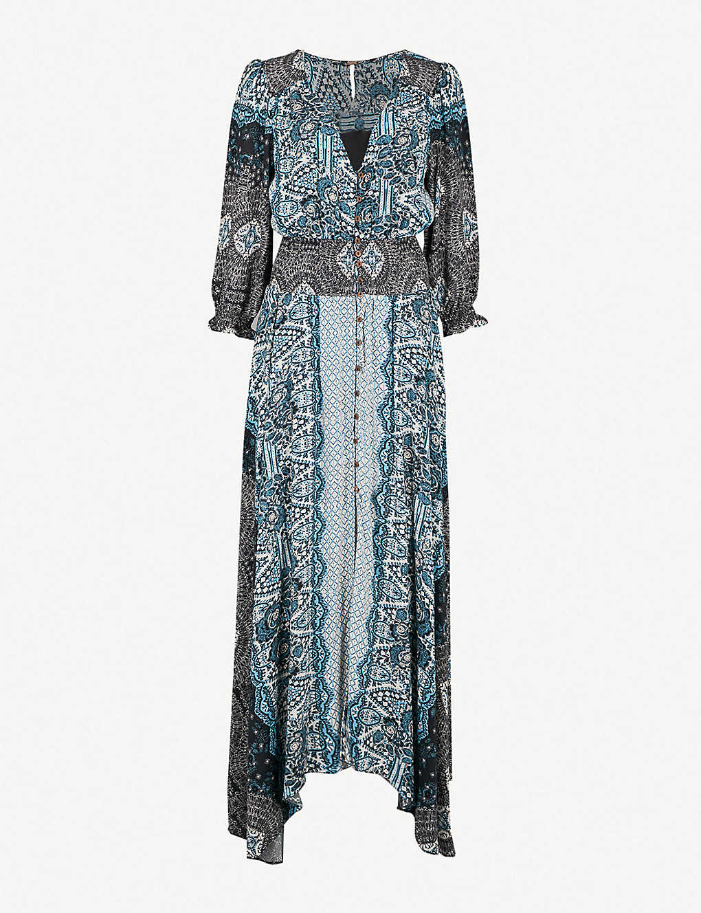 ccfb91429dc FREE PEOPLE - Mexicali rose woven maxi dress