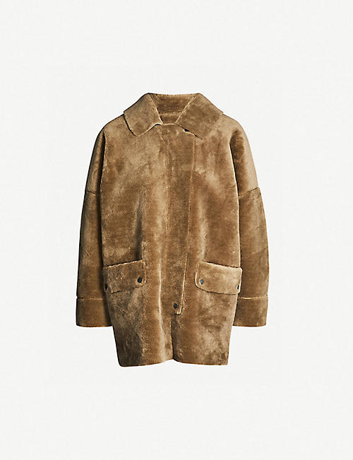 FREE PEOPLE Lindsay faux-fur coat