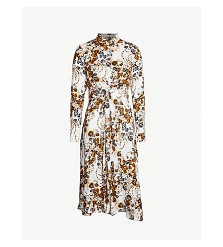 1a2fe514abbb FREE PEOPLE Tough Love floral-pattern crepe shirt dress (Ivory