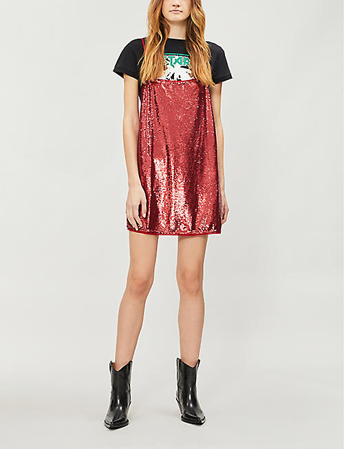 a5caa9146794 FREE PEOPLE Time To Shine sequinned mini slip dress · Quick Shop
