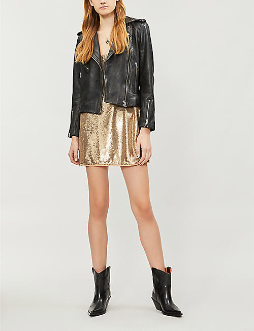 45b322ad507d FREE PEOPLE Time To Shine sequinned mini slip dress