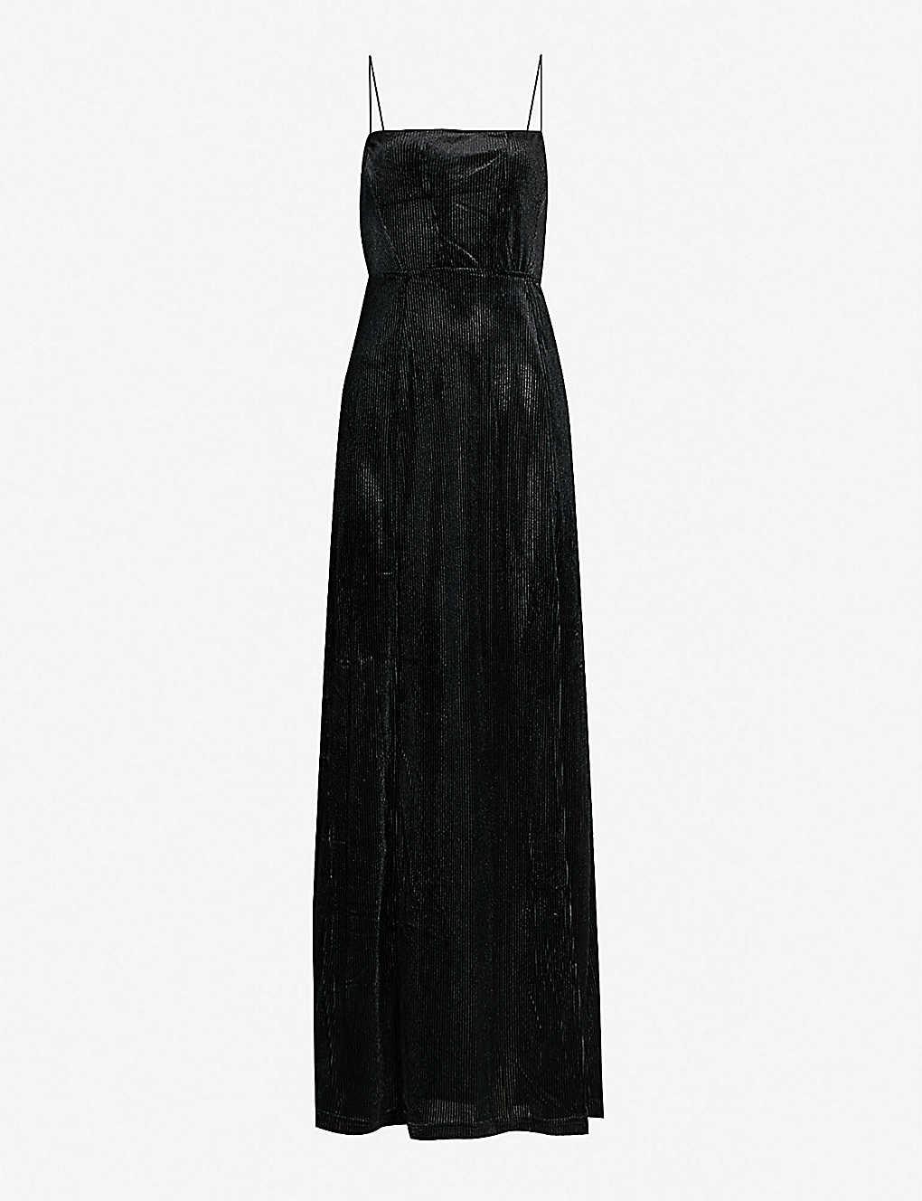 0263fb8985d FREE PEOPLE - All I Need split-hem ribbed velvet maxi dress ...
