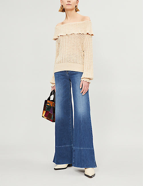 3ad98100ac44 FREE PEOPLE Crazy In Love linen-blend jumper