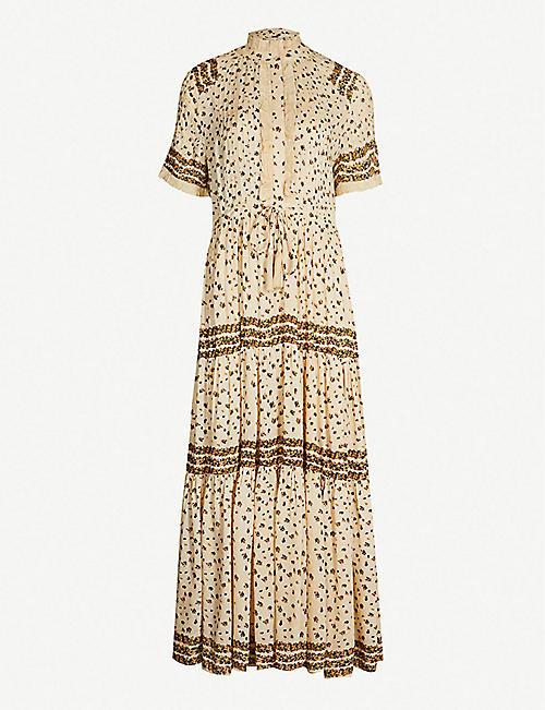 53d12ffe8898 FREE PEOPLE Rare Feelings floral-print woven midi dress