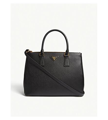 64b4e591f5 PRADA Galleria Saffiano large leather tote (Black