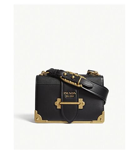 ... PRADA Cahier leather shoulder bag (Black gold. PreviousNext db8ec2c57997f