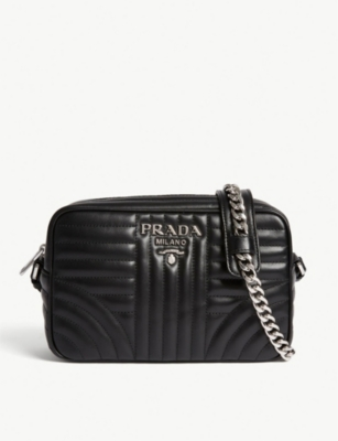 9eb8055c78f6 PRADA - Quilted leather camera bag   Selfridges.com
