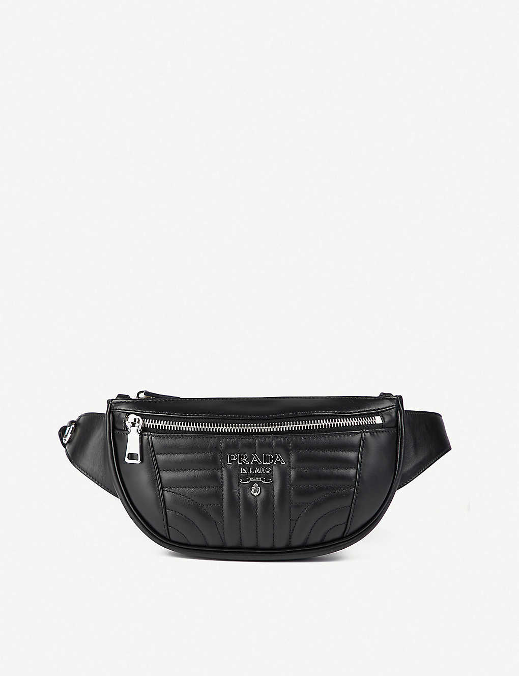 53b02e301429 PRADA - Diagramme quilted leather bum bag | Selfridges.com