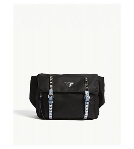 29986608fc59 PRADA Studded nylon belt bag (Black