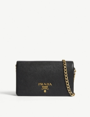 2e7ecd527c0e PRADA - Core Saffiano leather wallet-on-chain | Selfridges.com