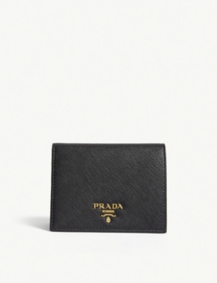 PRADA Logo small Saffiano leather purse