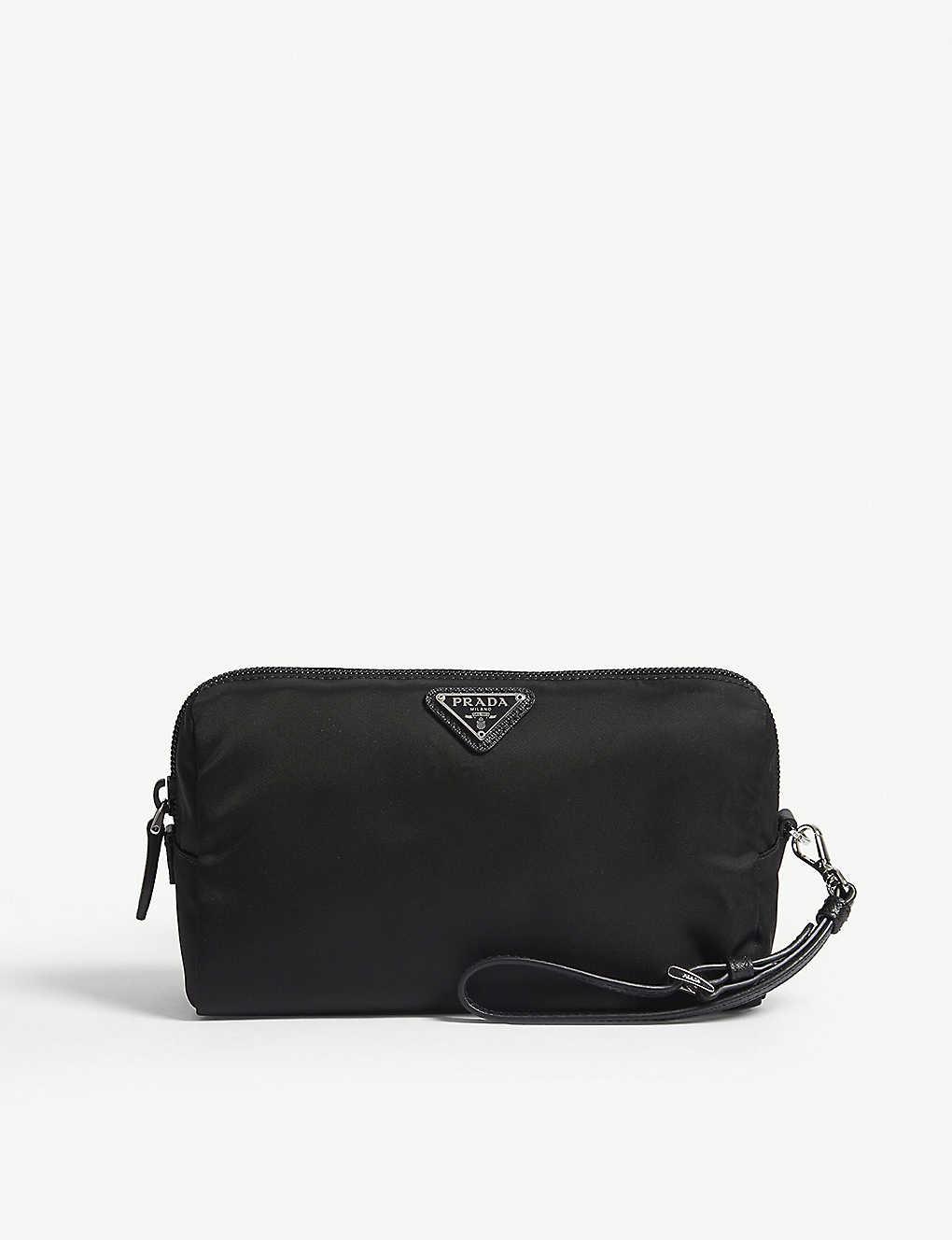 79020e14b0d PRADA - Logo nylon cosmetic pouch