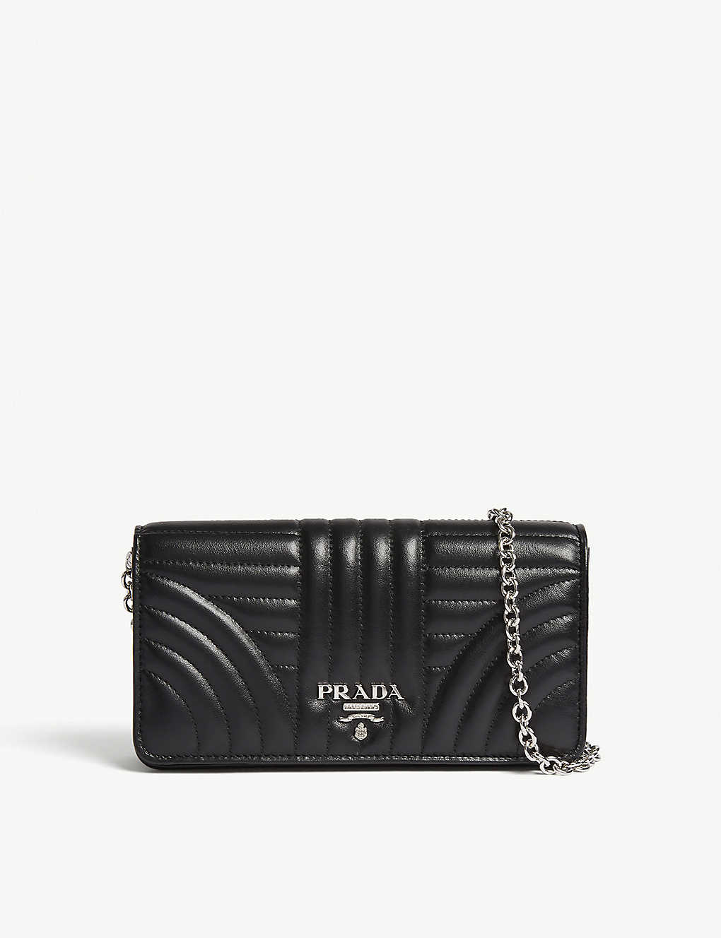 e2cc4d262c17 PRADA - Quilted leather wallet-on-chain | Selfridges.com