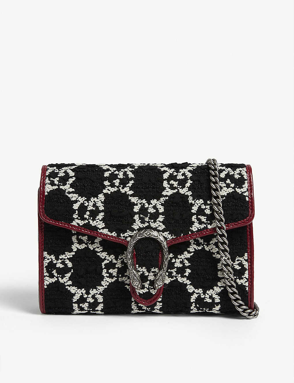 Gucci Wallets Dionysus velvet wallet on chain