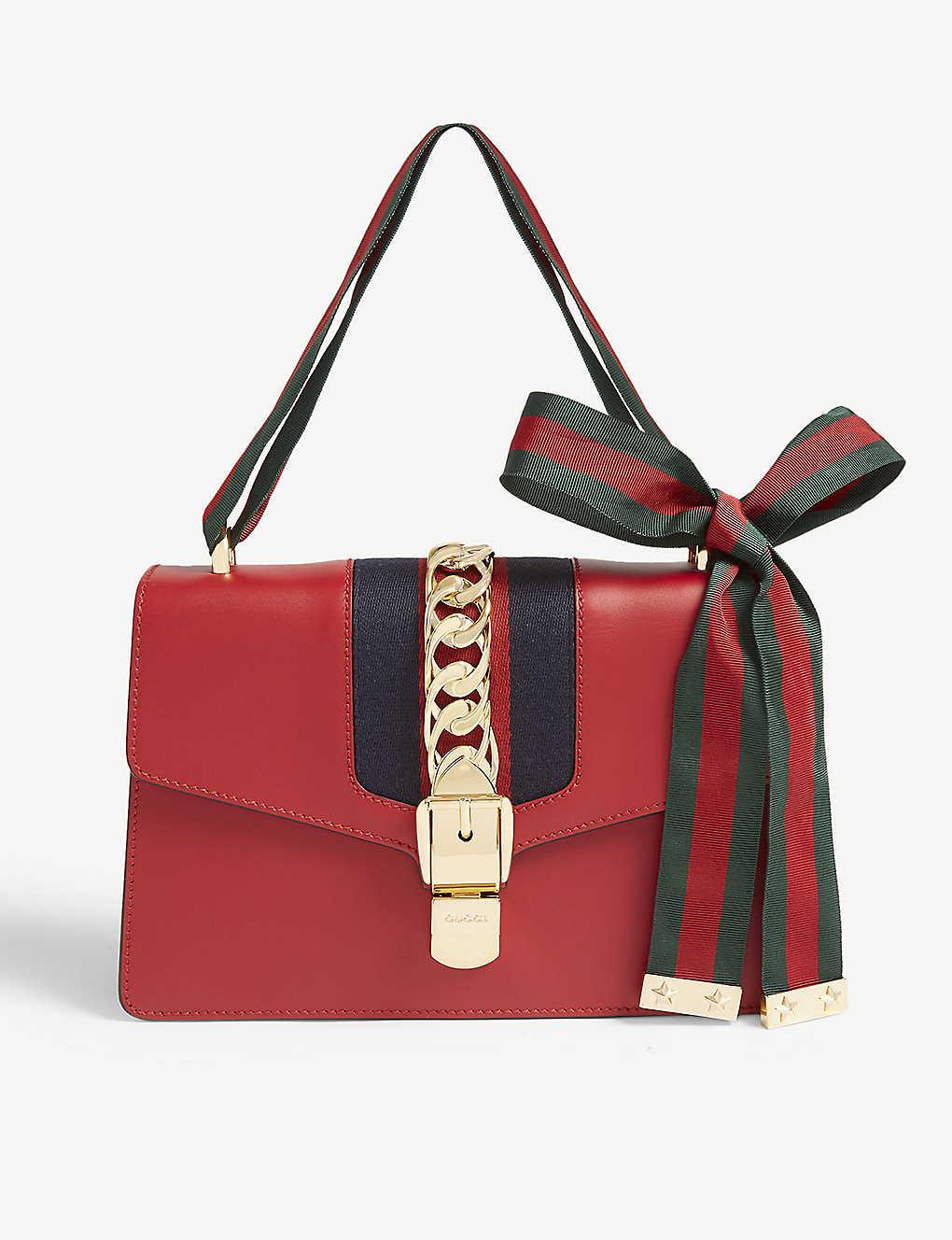 2929aaafd48c85 GUCCI - Sylvie leather shoulder bag   Selfridges.com