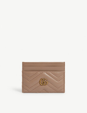 GUCCI Logo quilted leather card holder