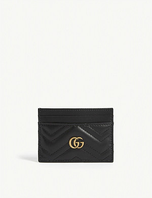 GUCCI GG Marmont leather card holder