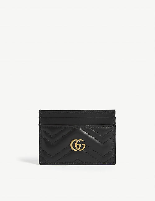 GUCCI: GG Marmont leather card holder