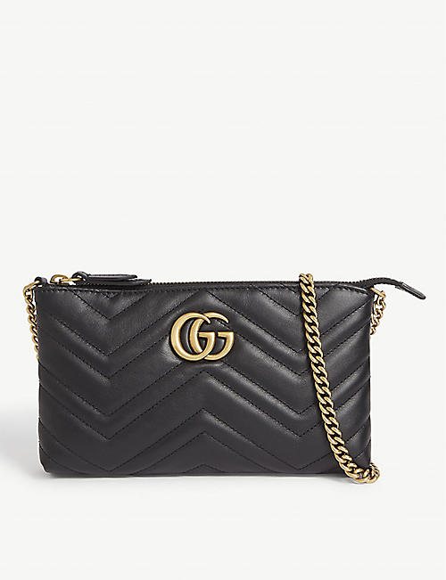 GUCCI Marmont leather pouch