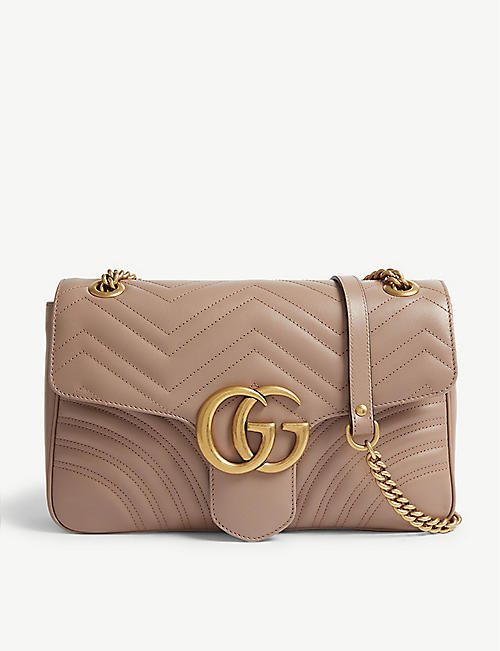 b17e495517c GUCCI GG Marmont leather shoulder bag