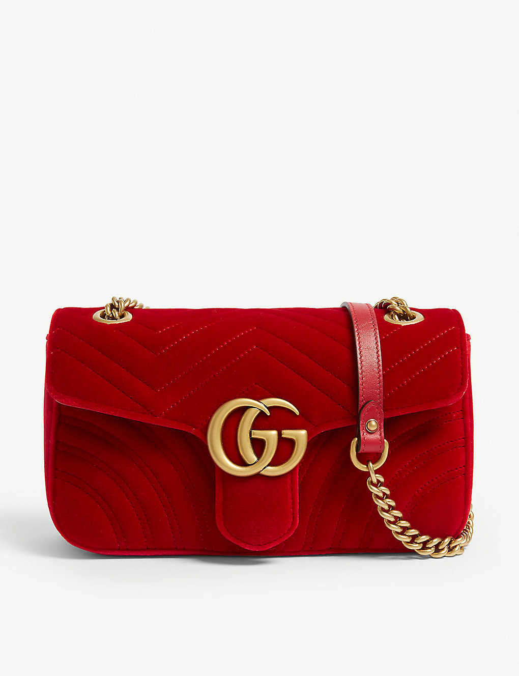 282cceb41c7f GUCCI - Velvet Marmont shoulder bag | Selfridges.com