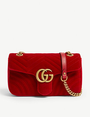 GUCCI Velvet Marmont shoulder bag