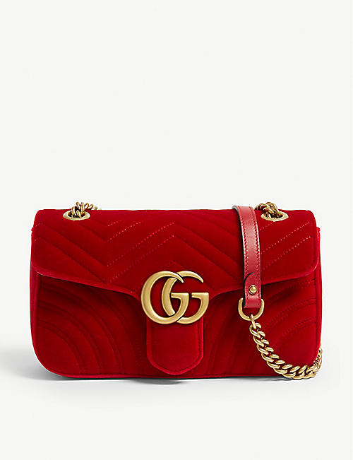 8d8b20d82cb GUCCI Velvet Marmont shoulder bag