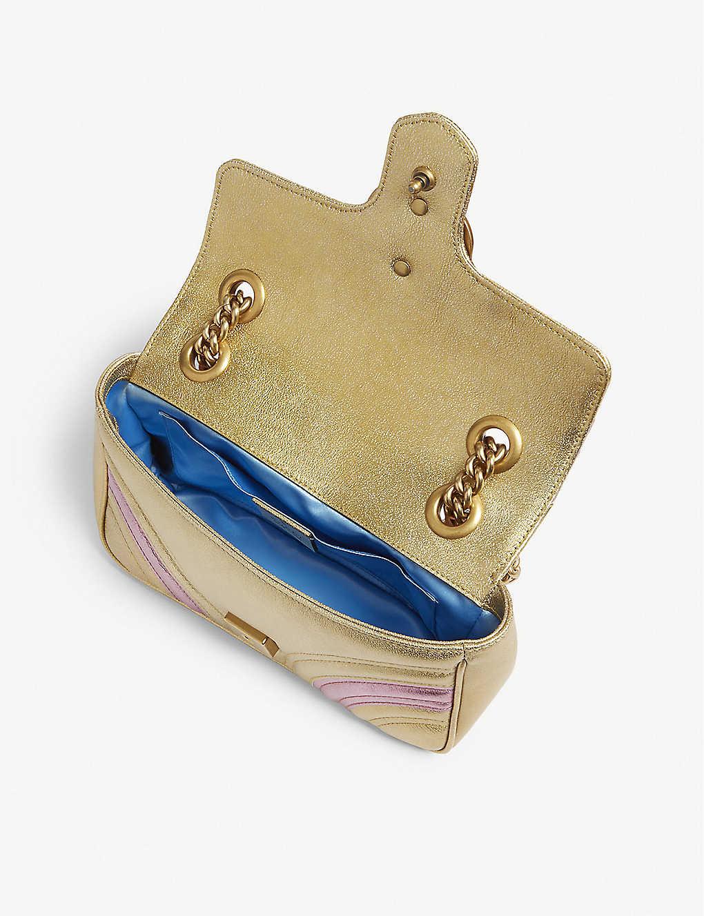 40600214d76 ... Metallic Marmont shoulder bag - Gold pink ...