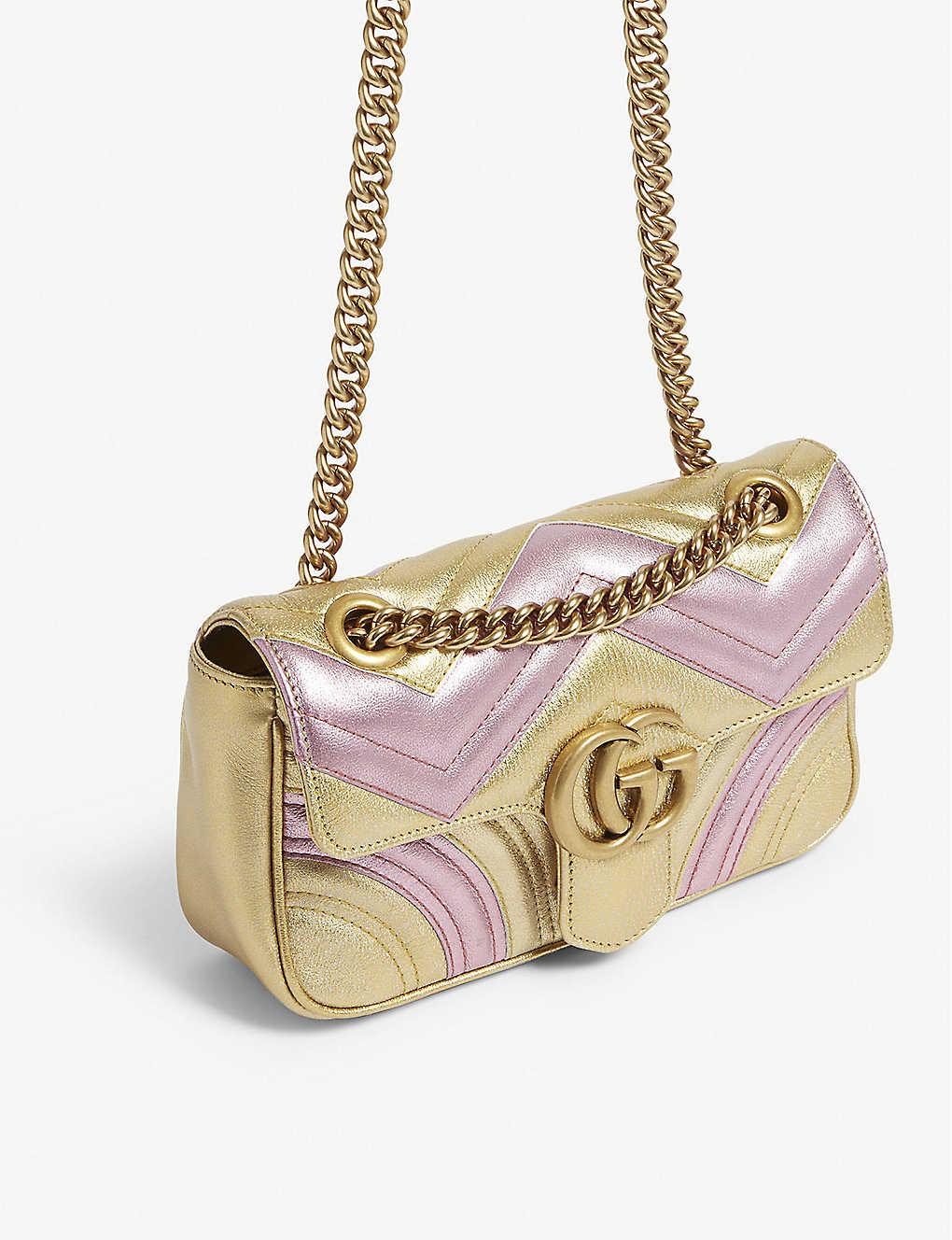 db6ff002ef4 ... Metallic Marmont shoulder bag - Gold pink zoom