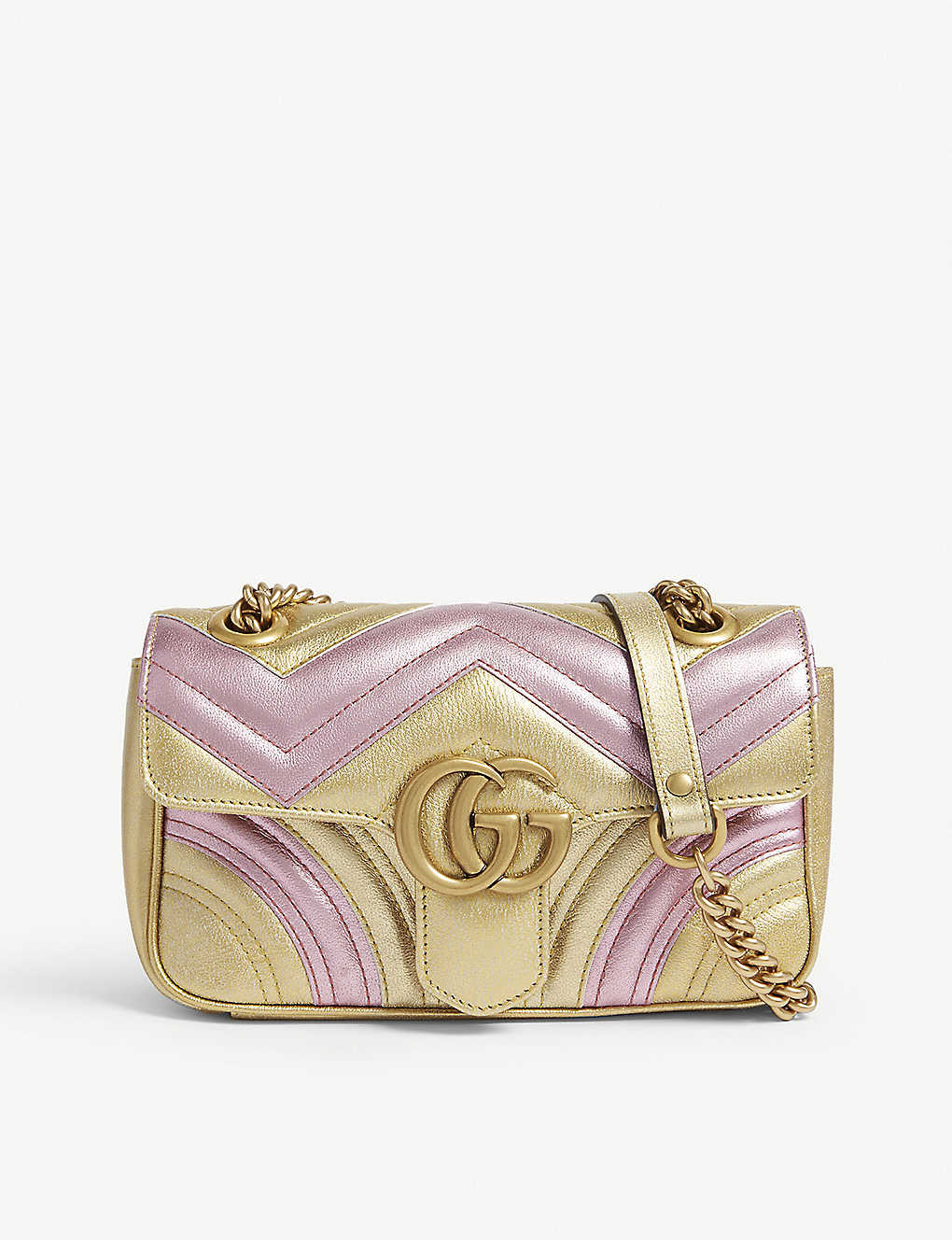 704a5d95b26 Metallic Marmont shoulder bag - Gold pink ...