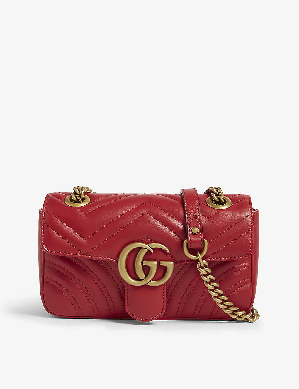 Marmont GG mini leather cross-body bag - RED