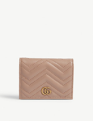 GUCCI Marmont leather card case wallet