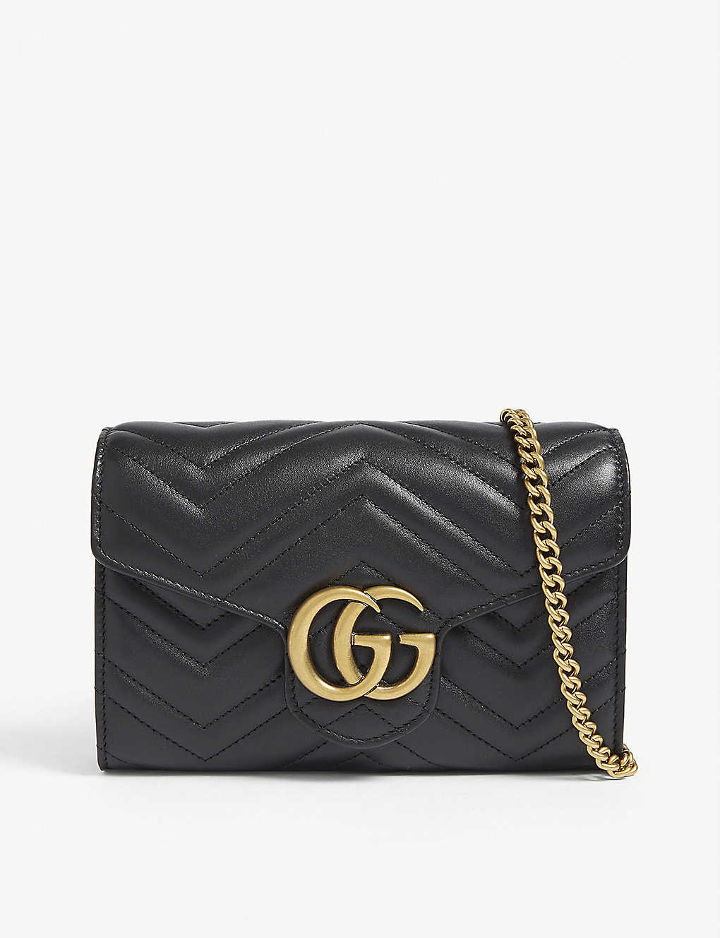 cfdd6b1a2 GUCCI - GG Marmont leather wallet on chain | Selfridges.com