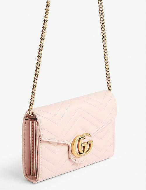 GUCCI Marmont quilted leather wallet-on-chain