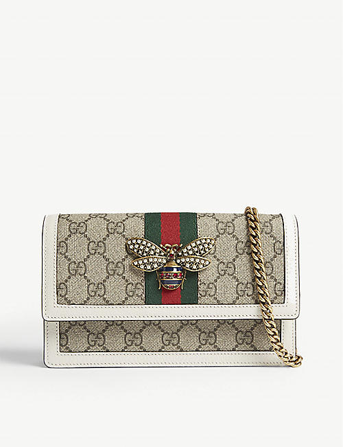 49503513d39 GUCCI Queen Margaret coated canvas cross-body bag